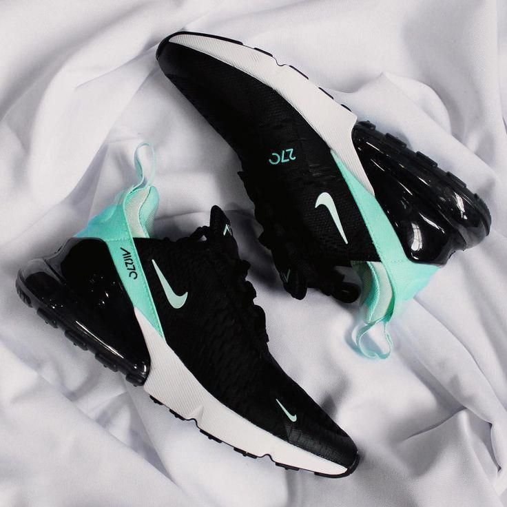 best sneakers f1feb b9e81 Nike Air Max 270 noire et turquoise (2018) - #Air #chaussure ...