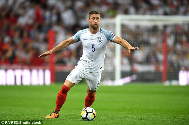Gary Cahill left Walker exposed when he lunged in during added time at the end of the first half
