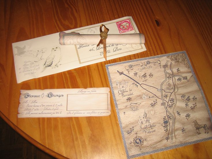Harry Potter #wedding Invitation With Our Homemade Map