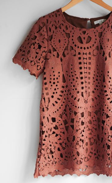 Marsala Lace Blouse