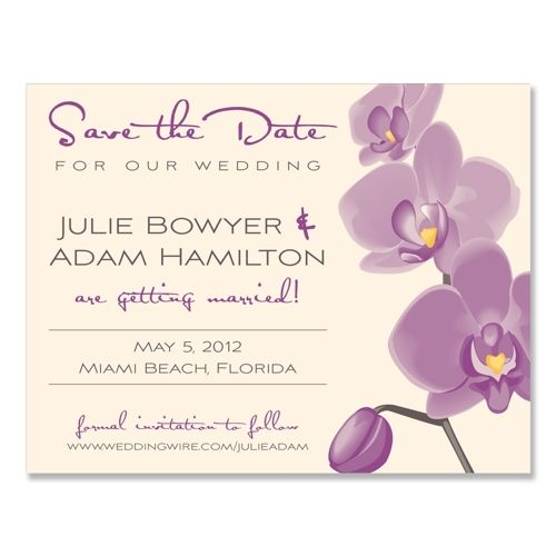 Tropical Orchid  - Unique Save-the-Date by The Green Kangaroo