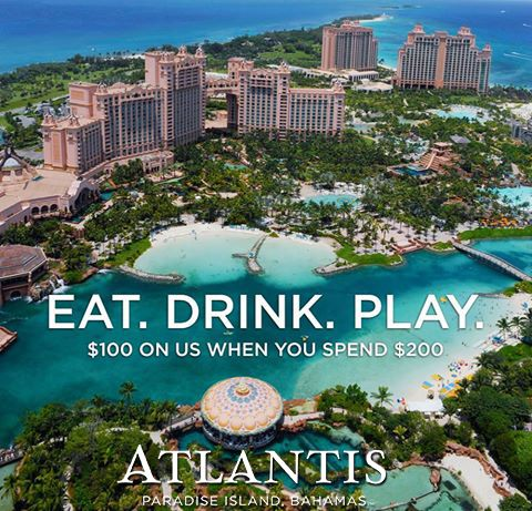 For a limited-time save up to 40% on nightly rates through fall at Atlantis. Receive 50% off Dining Plans including breakfast & dinner and a $300 resort credit for $200! ---------------------- #bahamas #resort #vacation #travel #caribbean #dining #food #breakfast #dinner