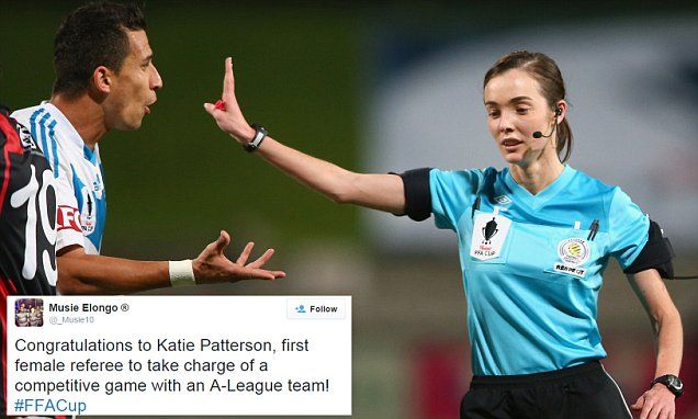 Katie Patterson is first female referee to officiate an A-League team