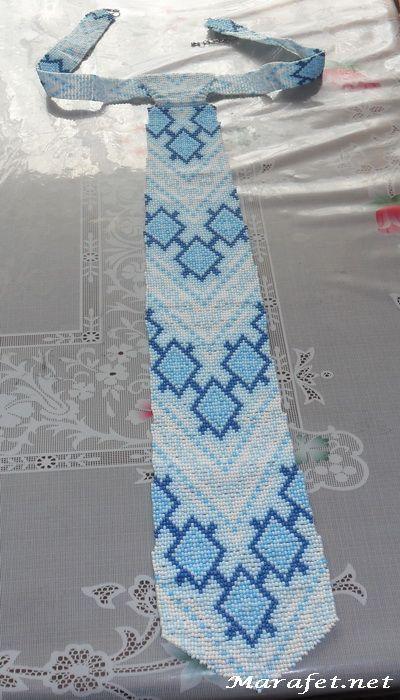 Подарок в Америку. Часть 1 - галстук из бисера.