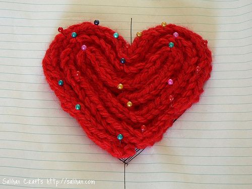 Knitting Nancy How To Use : I cord heart knitting nancy crafts pinterest