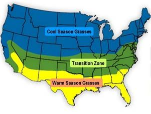 grass regions map - growing grass from seed