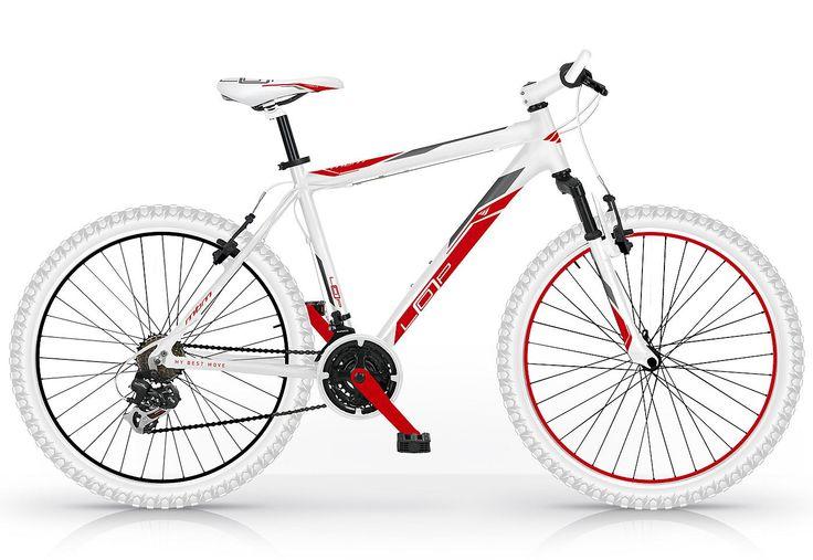 Herren Mountainbike, 26 Zoll, weiß-rot, 21 Gang Shimano, »Loop 653«, MBM.  Lieferbar in 3 Rahmenhöhen.  Dieses Mountainbike von MBM vereint alles, was ein gutes Einsteigerbike besitzen muß. Der Alurahmen, die Federgabel sowie die 21-Gang Shimano Schaltung lassen zusammen mit den bewährten V-Brakes kaum Wünsche offen. Wie gewohnt steht bei MBM das Design mit dem farblichen Zusammenspiel der Komo...
