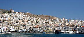 Grecia - Ermúpoli, en la isla de Siros, es la capital de las Cícladas