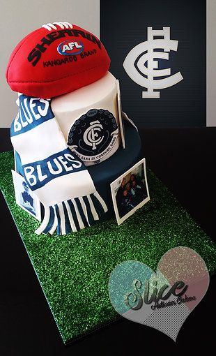 Carlton FC AFL cake  Melbourne, Australia - Cake Artist www.slicecakes.com