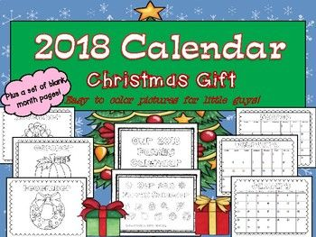 2018 Primary Calendar Christmas Gift by Elizabeth Vlach   TpT