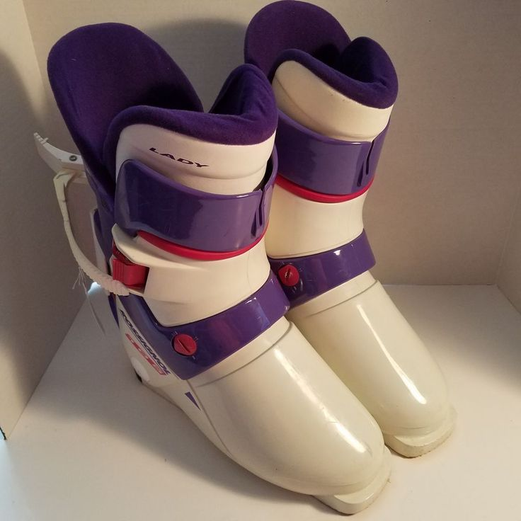 Rossignol Lady 105 Womens Ski Boots Size 25.5 White Violet Made In Italy #Rossignol