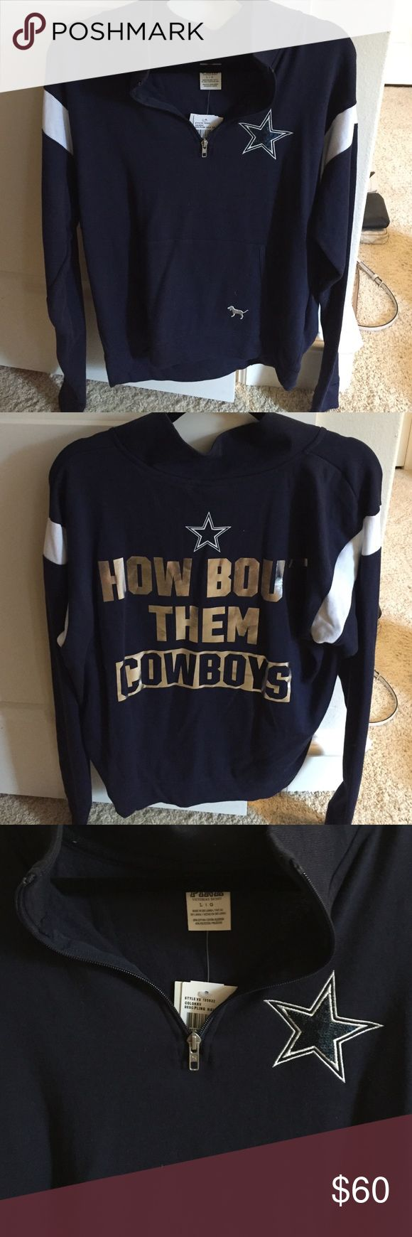 Victoria's Secret Dallas Cowboys Quarter-zip Never been worn, thin, Dallas Cowboys pullover! Victoria's Secret Sweaters