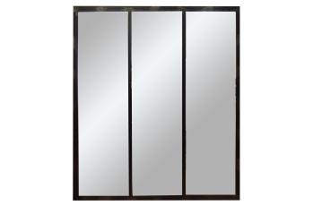 Three Panel Mirror (black)