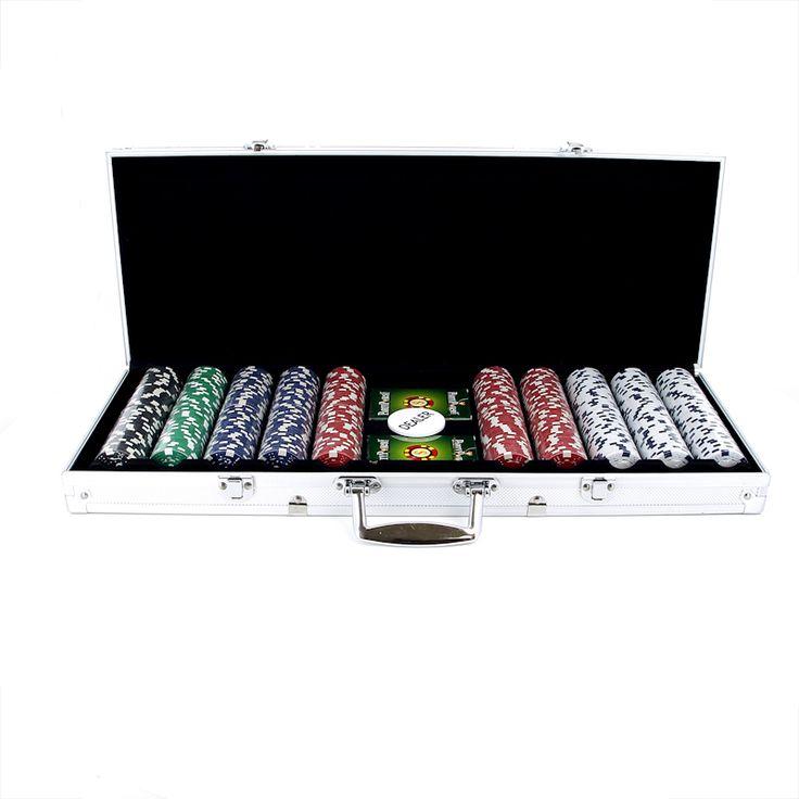 Набор для покера в алюминиевом кейсе, 500 фишек, пластик купить по лучшей цене с бесплатной доставкой по Москве, Санкт-Петербургу и России