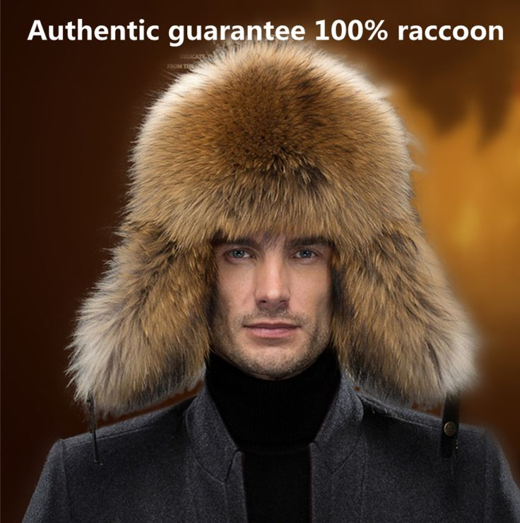gorro invierno hombre mens hats real fur hat outdoor casual leather fox raccoon middle-aged Bomber Hats(China (Mainland))