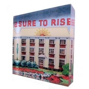 Sure to Rise from the iconic Edmonds Cookery Book. Printed directly onto the back of a 90mm x 90mm x 20mm acrylic art photo block, from Chelsea DesignNZ.
