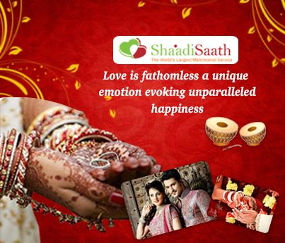You can also meet your life partner by logging on to India's most trusted matrimony site – Shaadisaath.com, Matrimony websites are an ideal way to meet new and interesting people looking to settle down.