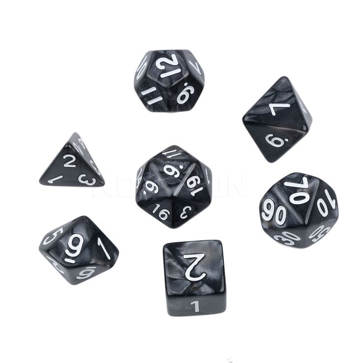 High Quality Multi-Sided Dice Set with Marble Effect d4 d6 d8 d10 d10 d12 d20 7pc/set Digital Dice for Board Game