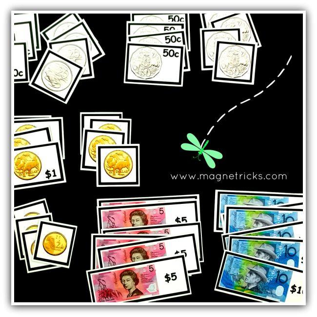 Magnetic pocket money set