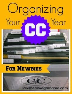 Organizing Your CC Year - for Newbies from And Here We Go!