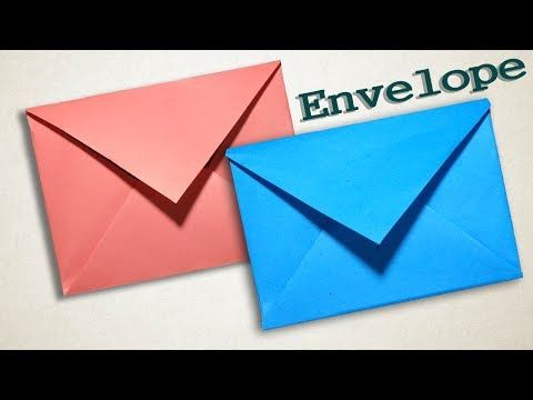 Envelope Making With Paper [Without Glue Tape and Scissors] at Home - YouTube