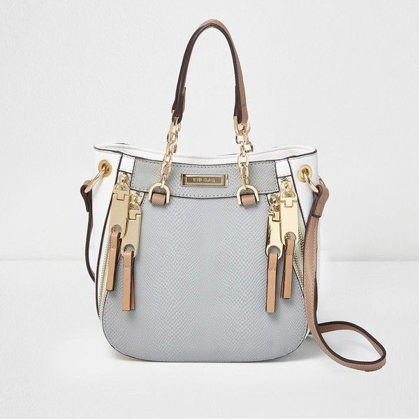 River Island Grey snake cross body mini chain tote bag (1,070 EGP) ❤ liked on Polyvore featuring bags, handbags, tote bags, bags / purses, grey, shoppers / tote bags, women, crossbody tote, mini tote bags and handbags crossbody