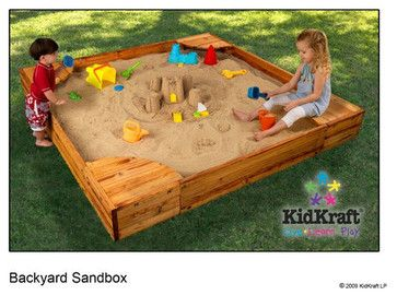 The KidKraft Backyard Sandbox Gives Kids A Perfect Place To Build  Sandcastles, Dig For Treasure And Play With All Of Their Favorite Sand Toys.