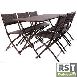red star traders perfect outdoor folding table chair set by rst brands - Folding Table And Chairs