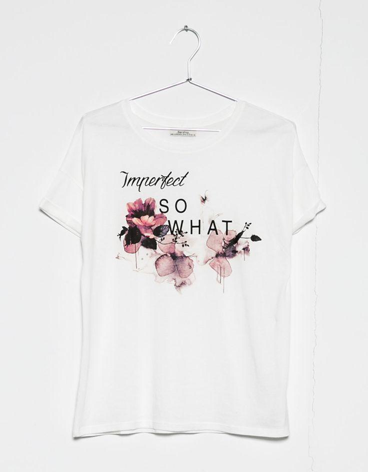 Μπλουζάκι με στάμπα imperfect/shopping 7.99 €