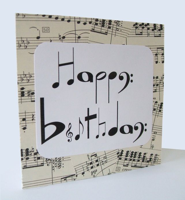 Chlef musical notes birthday card £2.20