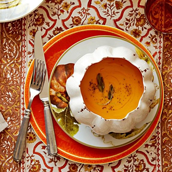 White Crackle Pumpkin Individual Bowls, Set of 4