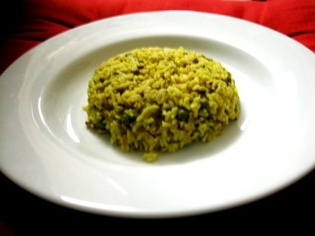 Khichdi - great baby food as well a yummy for adults. I slightly altered the recipe using yellow split peas instead. I also don't have a pressure cooker so I cooked the rice and dal for 15-20 mins.