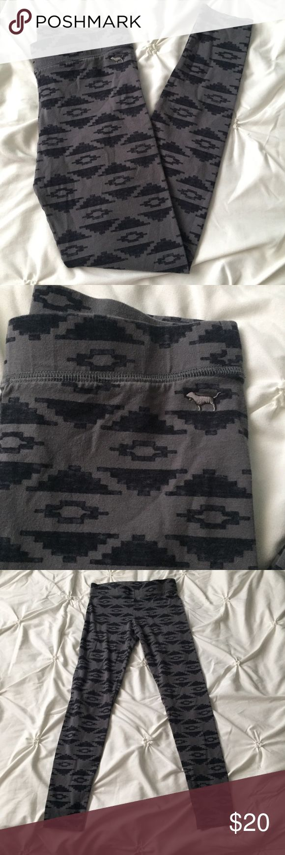 PINK Victoria's Secret Gray & Black Tribal Legging PINK Victoria's Secret Gray & Black Tribal Leggings Pants size XS - full length  ----- 🚭 All items are from a non-smoking home. 👆🏻Item is as described, feel free to ask questions. 📦 I am a fast shipper with excellent ratings. 👗I love bundles & bundle discounts. Feel free to make an offer! 😍 Like this item? Check out the rest of my closet! 💖 Thanks for looking! PINK Victoria's Secret Pants Leggings
