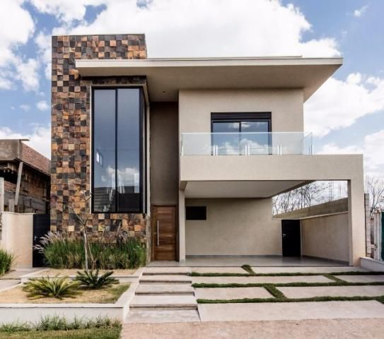 Fachadas de casas modernas de dos pisos decoraci n en for Decoracion de casas modernas y elegantes