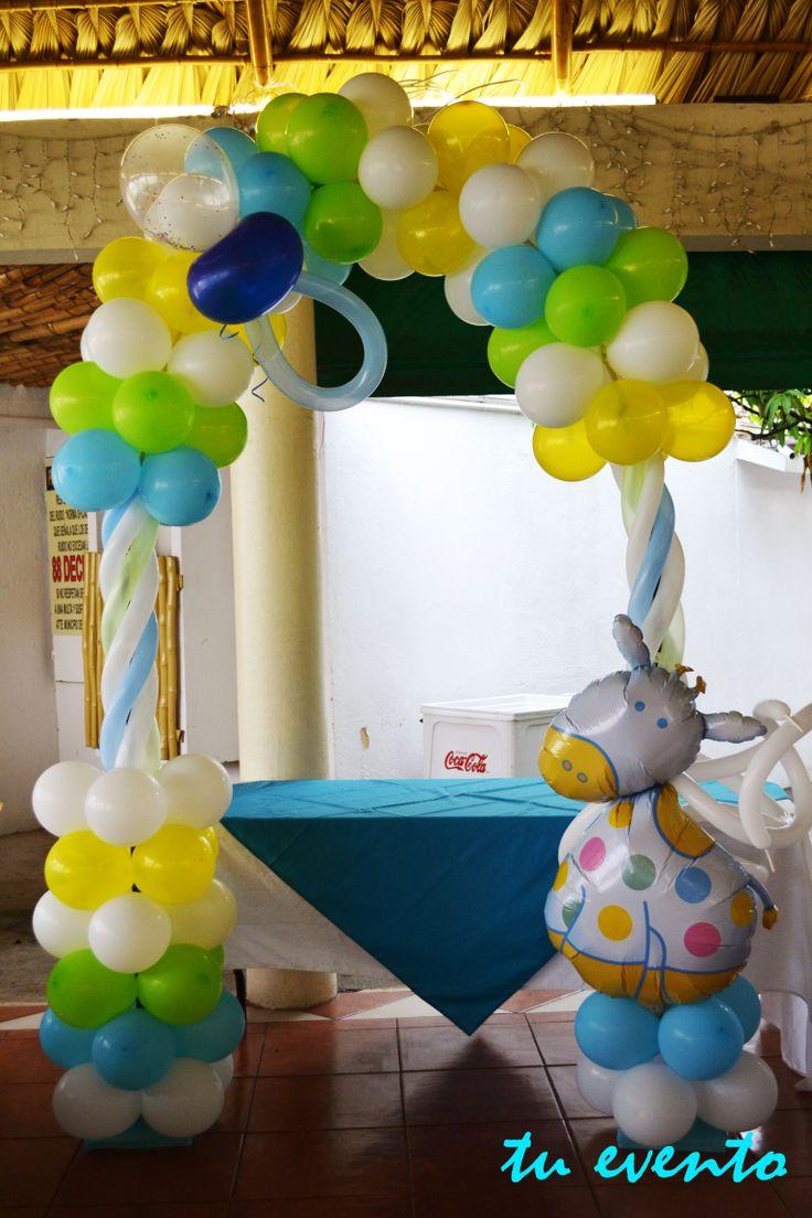 734 best baby baby shower christening ideas - Decorar con globos ...
