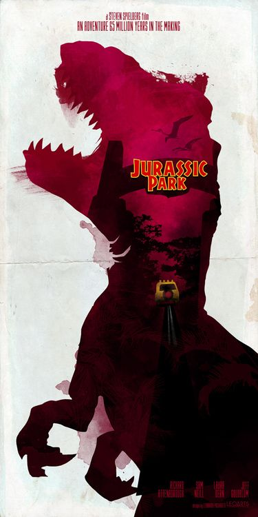 Inspired Movie Poster #2: Jurassic Park (1993) | SerialThriller™