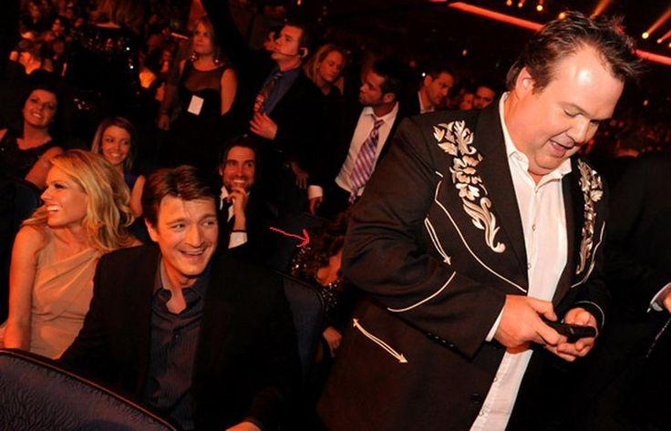 November 21, 2010. American Music Awards. Kate Luyben and Nathan Fillion, Kris Brkljac and Stana Katic.