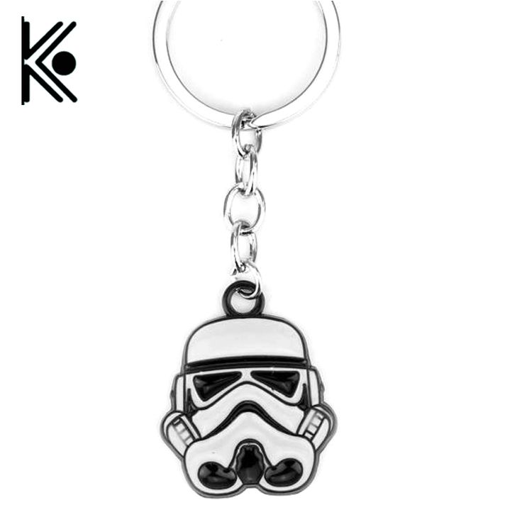 free shipping Star Wars Keychain Stormtrooper Key Rings Holder For Gift Chaveiro Car Key Chain Movie Souvenir