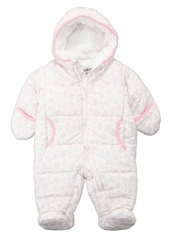 Osh Kosh BGosh Baby Girls Infant Printed Pram//Snowsuit