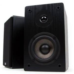 9. Micca MB42 Bookshelf Speaker with Carbon Fiber Woofer