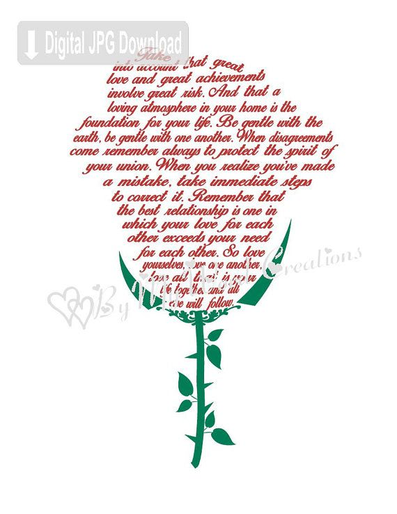 Wedding Flower Art Wedding Poem Art Love Poem by ByMyWordCreations