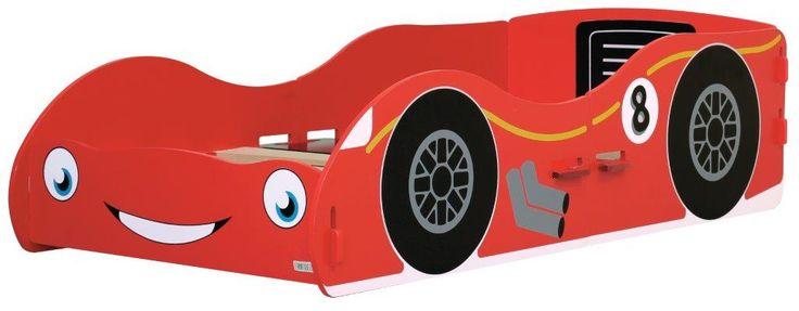 MiPetiteLife.es - Cama Pequeña Coche de Carreras Kidsaw  Esta cama pequeña con forma de coche de carreras tiene un diseño moderno. Ideal para los futuros campeones de F1.  Serigrafiada con efectos de dibujos animados muy divertidos. Tiene una gran sonrisa al frente y grandes ojos azules.  Diseñada de forma que no es necesario ningún pegamento, tornillo o fijaciones mecánicas. Simplemente se ensambla con ranuras como un rompecabezas.  Dimensiones: H43 x W80 x D152 cms.  www.MiPetiteLife.es