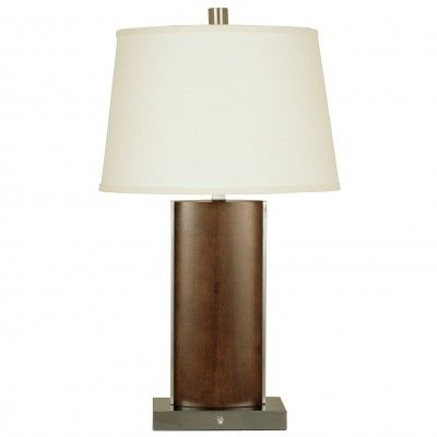 "SKU: CT3584  Transitional Table Lamp – 30"" Height  Merlot Finish  (12×15)""T x (12×18)""B x 12""S – Cream Linen Shade  Medium Base Socket – 150W Max.  On
