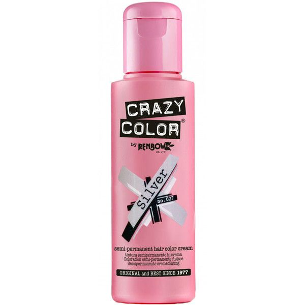 Crazy Color Silver Hair Dye ($7) ❤ liked on Polyvore featuring beauty products, haircare and hair color