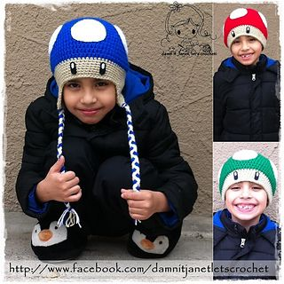 Mushroom Beanies #crochet #pattern #free>>>>>>>> this could be so cute for my nephews!!