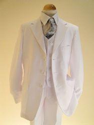 Boys White Communion Suit -  Sebastian Le Blanc -  William  - 3 Piece First  Holy Communion Suit
