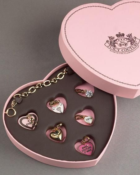Juicy Couture charm bracelet and heart charms.really really want **** look