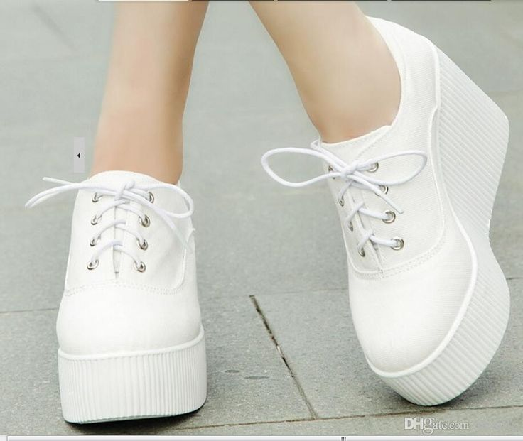 New 2015 Spring Wedge espadrilles fashion platform heels leisure canvas shoes solid color sneakers