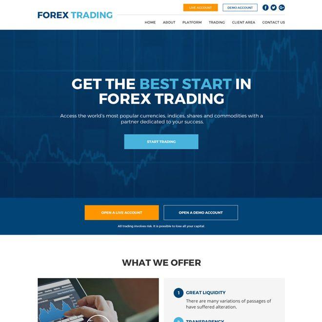 Forex Trading Sign Up Capturing Responsive Website Design Forex