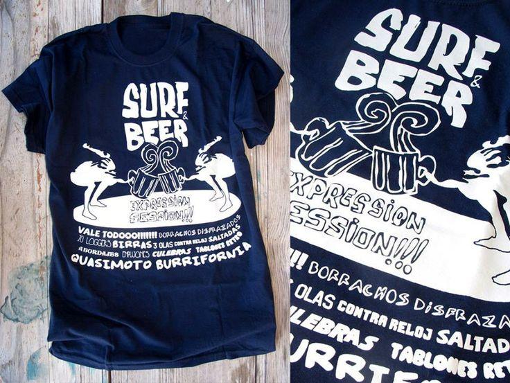 Ilustración para el Surf&Beer del II Quasimoto Burrifornia